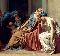 Jacques-Louis David, Il giuramento degli Orazi, 1784-85 - dett 1