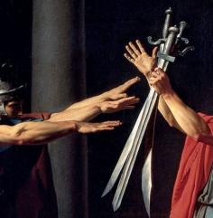 Jacques-Louis David, Il giuramento degli Orazi, 1784-85 - dett 3