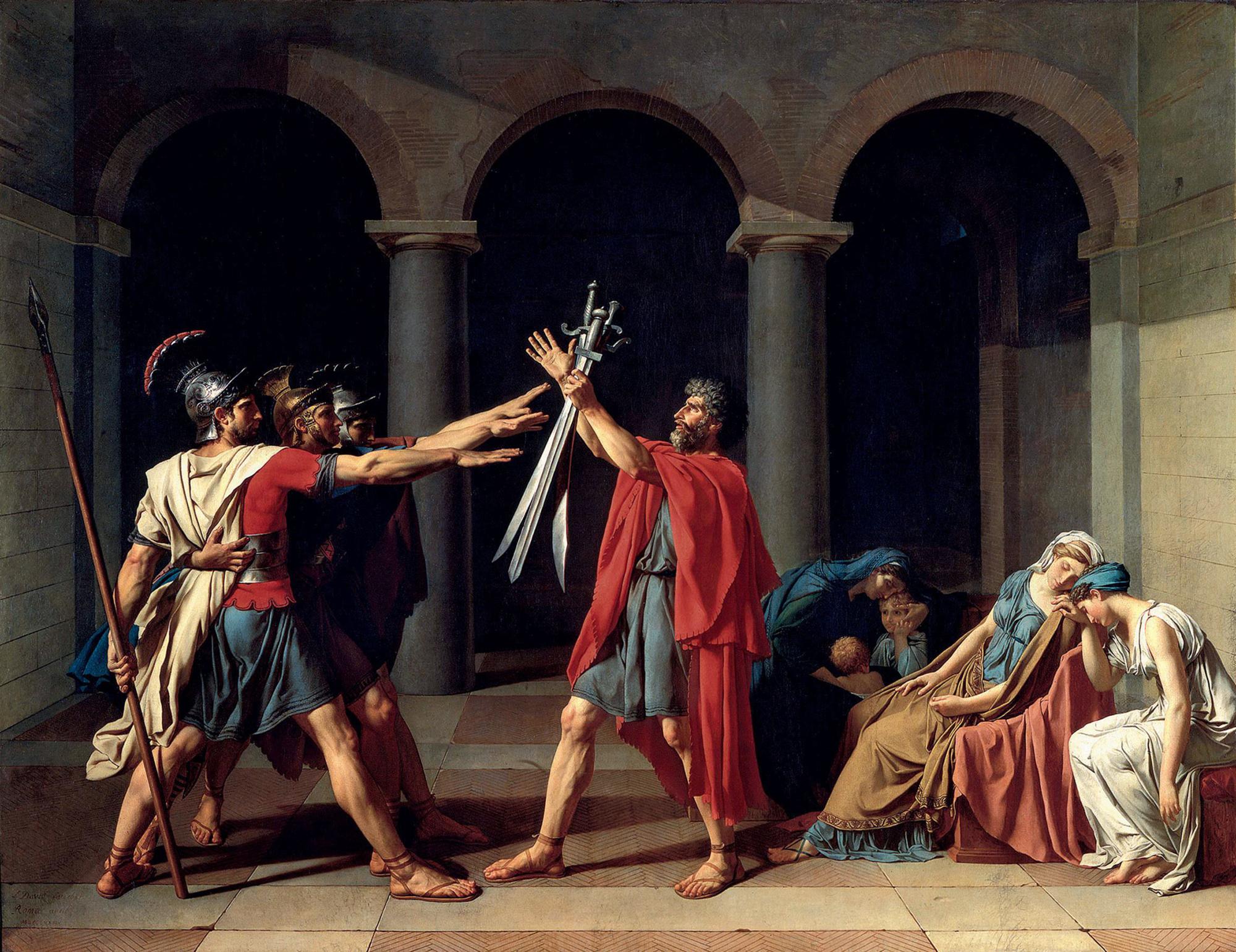 Jacques-Louis David, Il giuramento degli Orazi, 1784-85