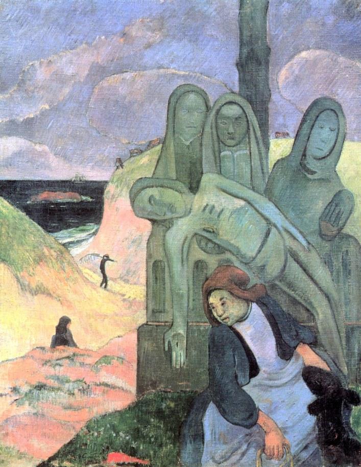 Paul Gauguin, Calvario bretone - Cristo verde, 1889