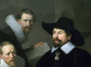 Rembrandt, Lezione di anatomia del dottor Tulp, 1632-part 1