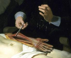 Rembrandt, Lezione di anatomia del dottor Tulp, 1632-part 2