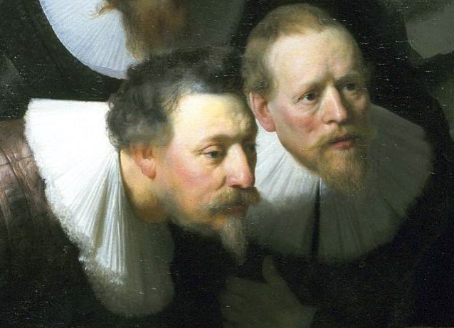 Rembrandt, Lezione di anatomia del dottor Tulp, 1632-part 3