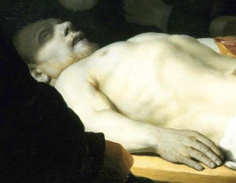 Rembrandt, Lezione di anatomia del dottor Tulp, 1632-part 4
