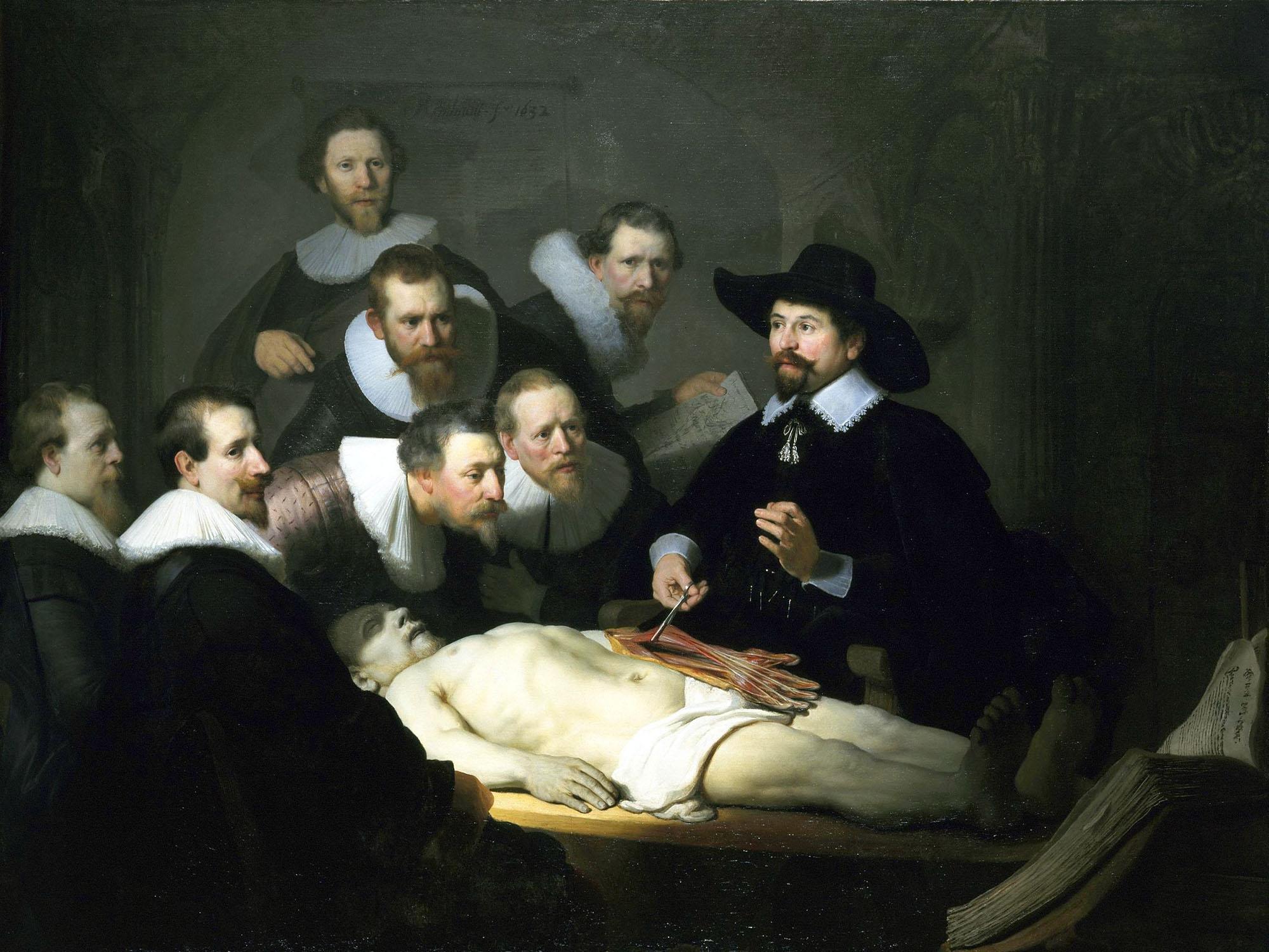 Rembrandt, Lezione di anatomia del dottor Tulp, 1632