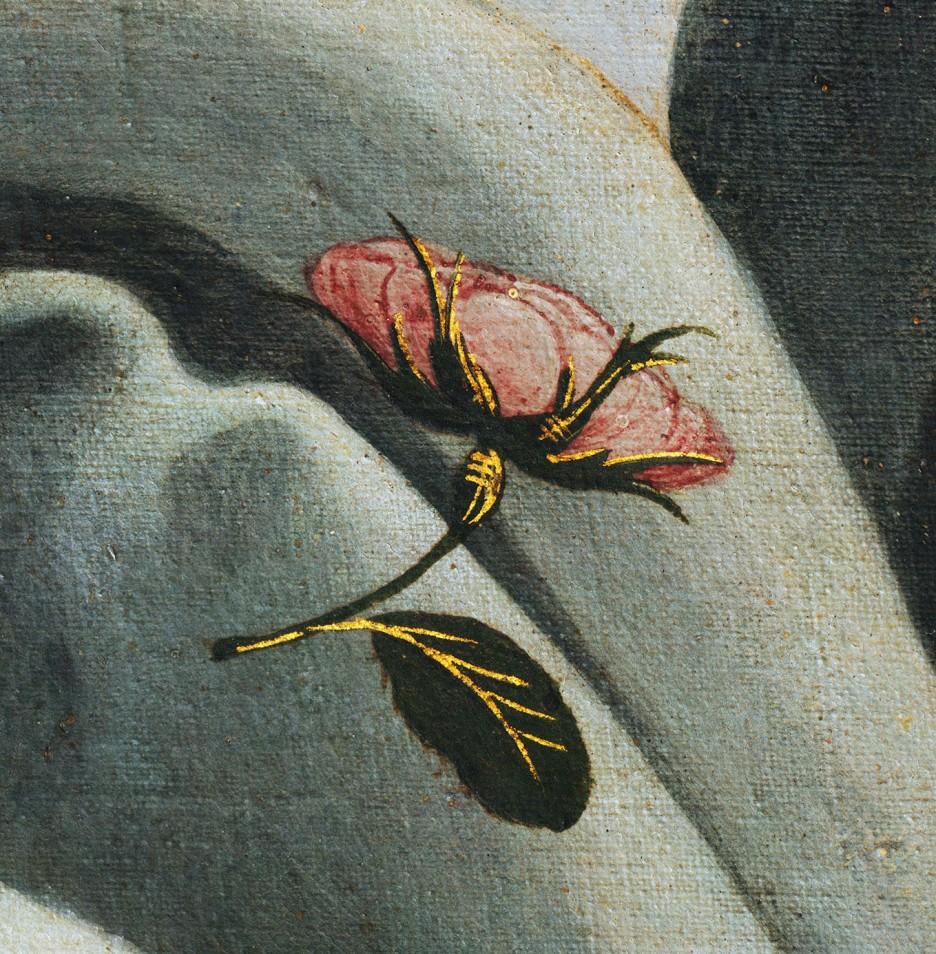 Sandro Botticelli, La nascita di Venere, 1483-85, dettaglio 2