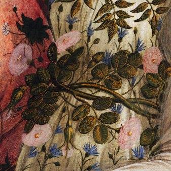 Sandro Botticelli, La nascita di Venere, 1483-85, dettaglio 5