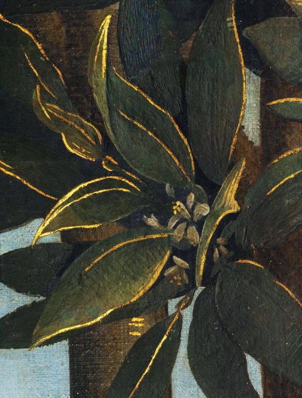 Sandro Botticelli, La nascita di Venere, 1483-85, dettaglio 6