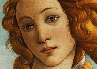 Sandro Botticelli, La nascita di Venere, 1483-85, dettaglio 8