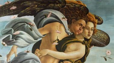 Sandro Botticelli, La nascita di Venere, 1483-85, dettaglio