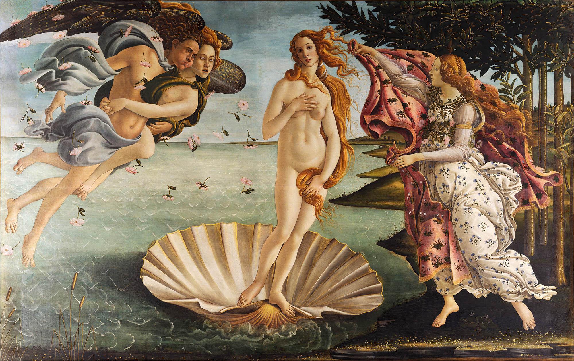 Sandro Botticelli, La nascita di Venere, 1483-85