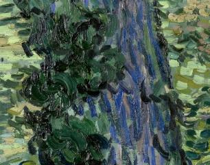 82_Vincent van Gogh, Sottobosco, 1889 dett 3