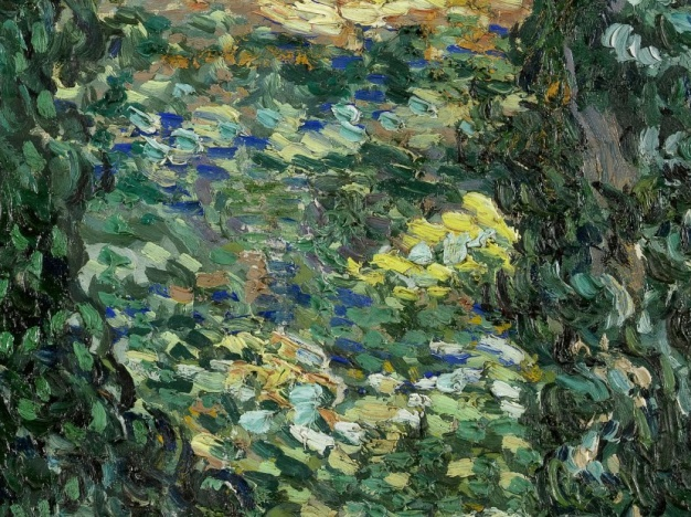 82_Vincent van Gogh, Sottobosco, 1889 dett 4