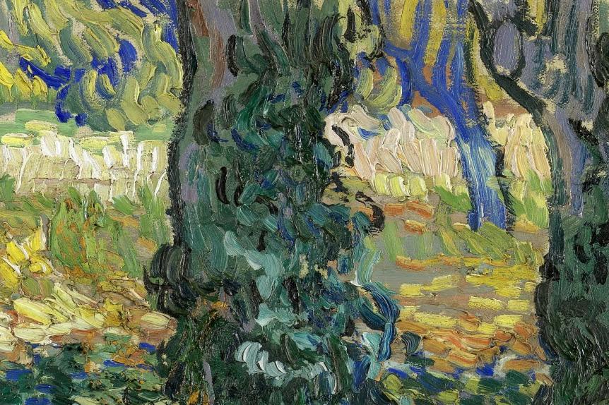 82_Vincent van Gogh, Sottobosco, 1889 dett