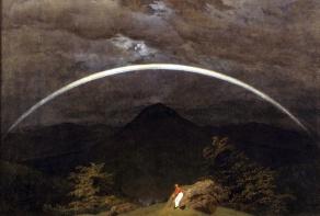 Caspar David Friedrich, Paesaggio montano con arcobaleno, 1809-10