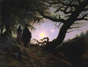 Caspar David Friedrich, Un uomo e una donna davanti alla Luna, 1820