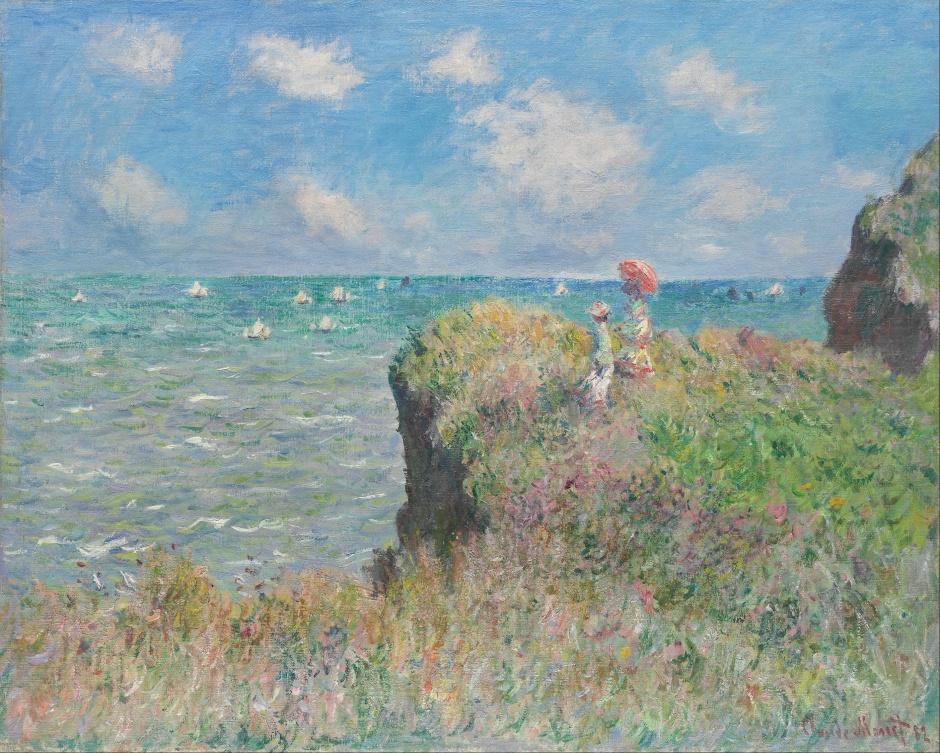 Claude Monet, Passeggiata sulla scogliera a Pourville, 1882