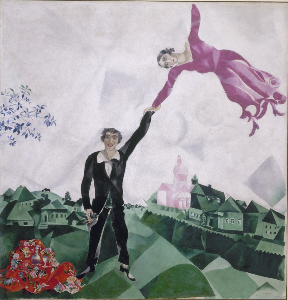Marc Chagall,Promenade, La passeggiata, 1917-18
