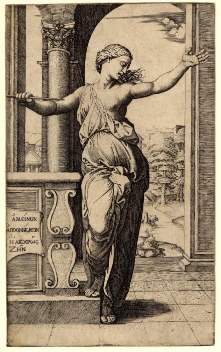 Marcantonio Raimondi, Il suicidio di Lucrezia