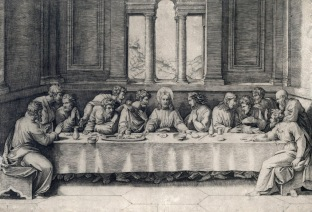 Marcantonio Raimondi, L'ultima cena