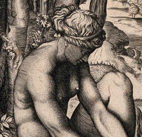 Marco Dente, Venere ferita da una spina, dettaglio
