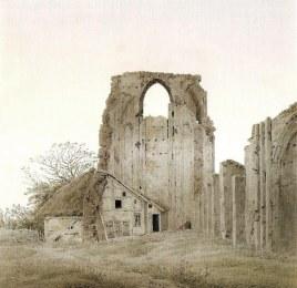 Caspar David Friedrich, Coro delle rovine di Eldena, 1836