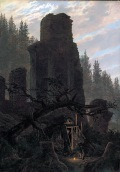 Caspar David Friedrich, Rovine al crepuscolo, 1831