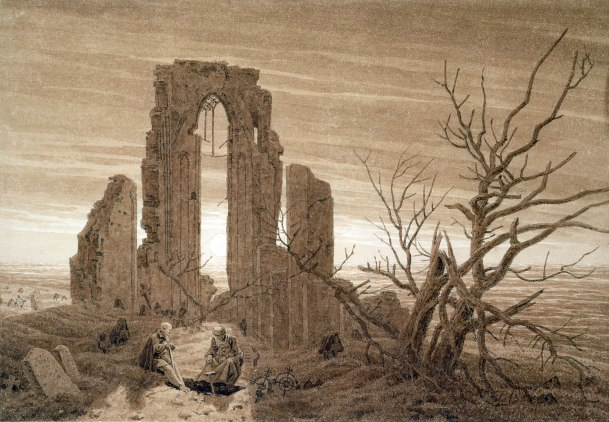 Caspar David Friedrich, Rovine di un monastero sul mare, 1803
