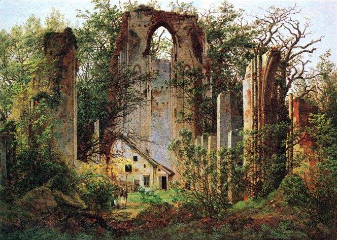 Caspar David Friedrich, Rovine del chiostro di Eldena, 1825