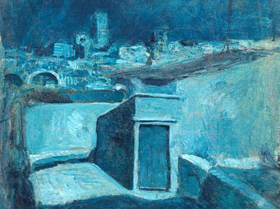 Pablo Picasso, I tetti di Barcellona al chiaro di luna, 1903