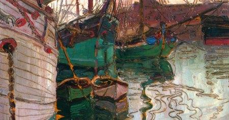 Egon Schiele, Porto di Trieste, 1907 barche