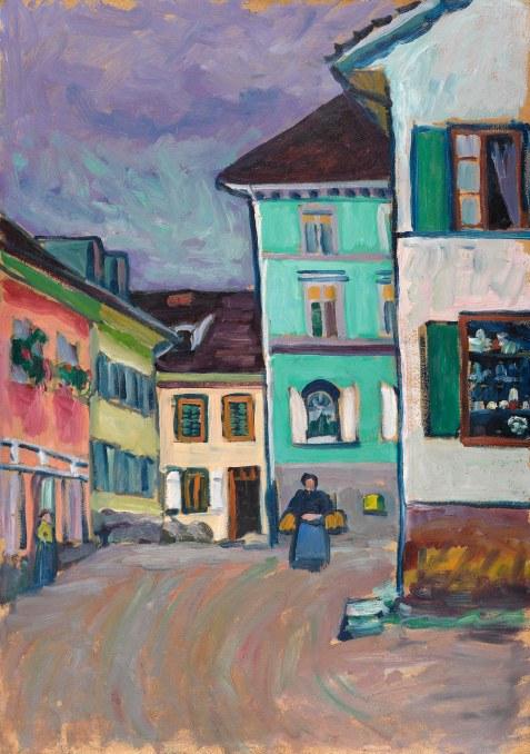 Vassily Kandinsky, Murnau, Inizio di Johannisstrasse, 1908