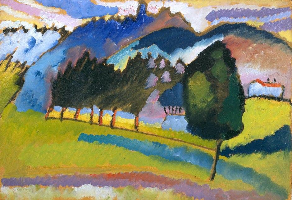 Vassily Kandinsky, Paesaggio con colline ondeggianti, 1910