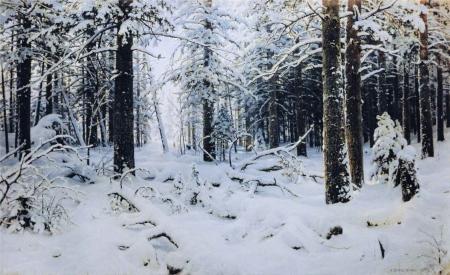 Ivan Šiškin, Inverno, 1890